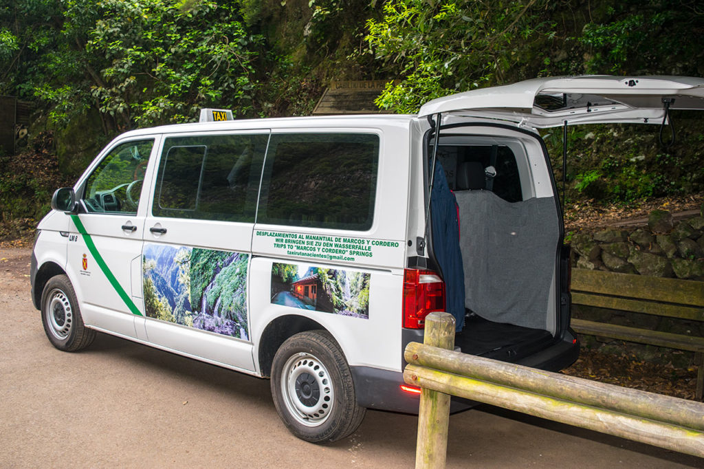 Taxi services in the north of La Palma · Travel to the hiking areas · Canary Islands